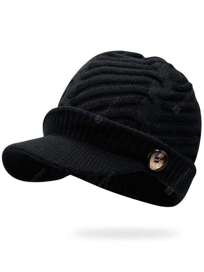 Mix Color Cable Knit Military Hat