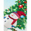 Christmas Tree Snowman Print Pullover Sweatshirt - COLORMIX