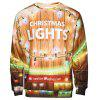 Christmas Light Print Pullover Sweatshirt - COLORMIX