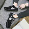 Contrasting Color Stitching Skate Shoes - BLACK