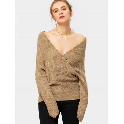 Overlap Off The Shoulder Sweater