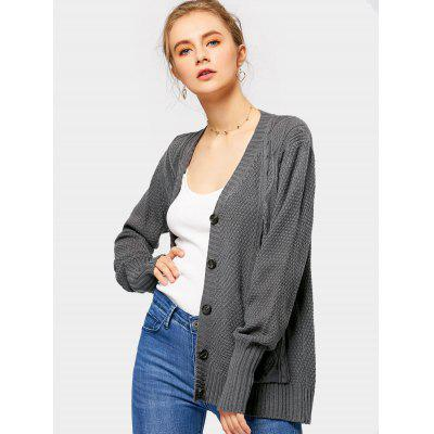 Button Up V Neck Cardigan with PocketsSweaters &amp; Cardigans<br>Button Up V Neck Cardigan with Pockets<br><br>Collar: V-Neck<br>Material: Polyester<br>Package Contents: 1 x Cardigan<br>Sleeve Length: Full<br>Style: Casual<br>Type: Cardigans<br>Weight: 0.3700kg