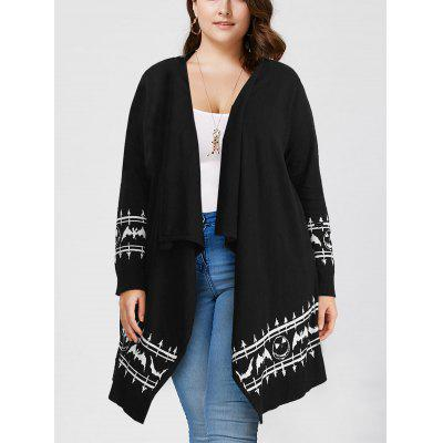 Halloween Plus Size Graphic Long Sleeve Cardigan
