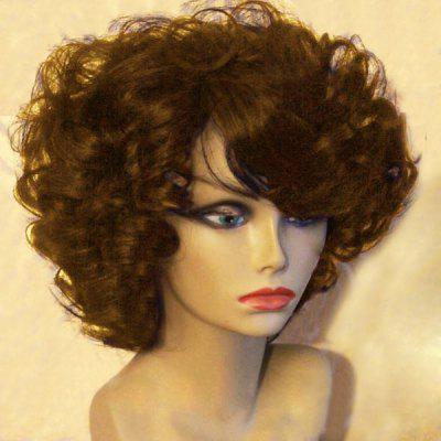Short Side Bouffant Afro Curly Synthetic Wig