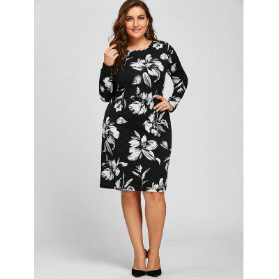 Sheath Plus Size Floral Long Sleeve DressPlus Size Dresses<br>Sheath Plus Size Floral Long Sleeve Dress<br><br>Dresses Length: Knee-Length<br>Material: Polyester, Spandex<br>Neckline: Round Collar<br>Package Contents: 1 x Dress<br>Pattern Type: Floral<br>Season: Spring, Fall<br>Silhouette: Sheath<br>Sleeve Length: Long Sleeves<br>Style: Cute<br>Weight: 0.3200kg<br>With Belt: No