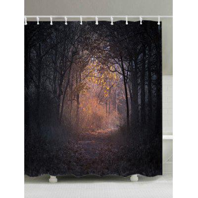 Forest Track Print Fabric Waterproof Bathroom Shower Curtain