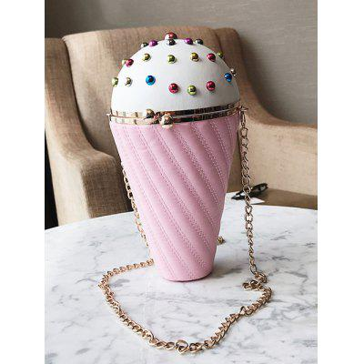 Ice Cream Shape Rivets Stitching Crossbody BagCrossbody Bags<br>Ice Cream Shape Rivets Stitching Crossbody Bag<br><br>Closure Type: Hasp<br>Embellishment: Rivet<br>Gender: For Women<br>Handbag Size: Small(20-30cm)<br>Handbag Type: Crossbody bag<br>Main Material: PU<br>Occasion: Versatile<br>Package Contents: 1 x Crossbody Bag<br>Pattern Type: Others<br>Size(CM)(L*W*H): 6*5*22<br>Style: Fashion<br>Weight: 0.6000kg