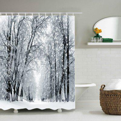 Snowy Forest Path Print Fabric Waterproof Shower CurtainShower Curtain<br>Snowy Forest Path Print Fabric Waterproof Shower Curtain<br><br>Materials: Polyester<br>Number of Hook Holes: W59 inch*L71 inch: 10; W71 inch*L71 inch: 12; W71 inch*L79 inch: 12<br>Package Contents: 1 x Shower Curtain 1 x Hooks (Set)<br>Pattern: Forest<br>Products Type: Shower Curtains<br>Style: Natural