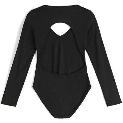 Backless Long Sleeve Skinny BodysuitJumpsuits &amp; Rompers<br>Backless Long Sleeve Skinny Bodysuit<br><br>Embellishment: Backless<br>Fit Type: Skinny<br>Material: Cotton, Polyester<br>Package Contents: 1 x Bodysuit<br>Pattern Type: Solid<br>Season: Fall, Spring<br>Style: Fashion<br>Weight: 0.2200kg<br>With Belt: No