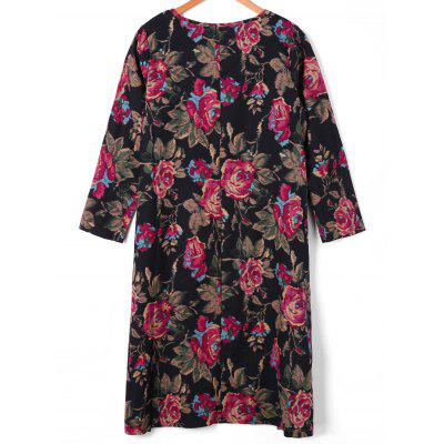 Long Sleeve Midi Floral Print Shift DressWomens Dresses<br>Long Sleeve Midi Floral Print Shift Dress<br><br>Dresses Length: Mid-Calf<br>Material: Cotton, Polyester, Spandex<br>Neckline: Round Collar<br>Package Contents: 1 x Dress<br>Pattern Type: Solid<br>Season: Spring, Fall<br>Silhouette: Shift<br>Sleeve Length: Long Sleeves<br>Style: Brief<br>Weight: 0.4000kg<br>With Belt: No