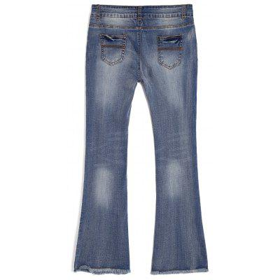 Ninth Frayed Bleach Wash Boot Cut JeansJeans<br>Ninth Frayed Bleach Wash Boot Cut Jeans<br><br>Closure Type: Zipper Fly<br>Fabric Type: Denim<br>Fit Type: Regular<br>Length: Ninth<br>Material: Cotton, Jeans<br>Package Contents: 1 x Jeans<br>Pant Style: Boot Cut<br>Waist Type: Mid<br>Wash: Bleach<br>Weight: 0.4500kg