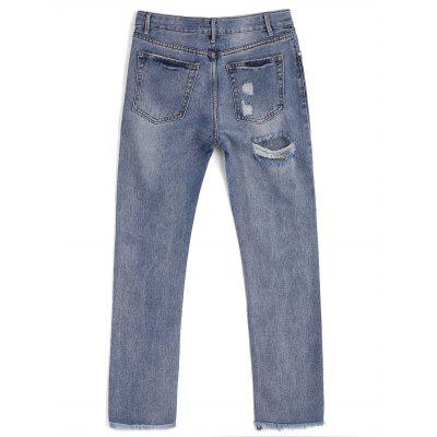 Ninth Destroyed Frayed Pencil JeansJeans<br>Ninth Destroyed Frayed Pencil Jeans<br><br>Closure Type: Zipper Fly<br>Fabric Type: Denim<br>Fit Type: Regular<br>Length: Ninth<br>Material: Cotton, Jeans<br>Package Contents: 1 x Jeans<br>Pant Style: Pencil Pants<br>Waist Type: Mid<br>Wash: Bleach<br>Weight: 0.5300kg