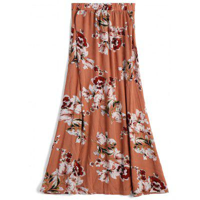 Button Up Front Slit Floral A Line SkirtSkirts<br>Button Up Front Slit Floral A Line Skirt<br><br>Embellishment: Button<br>Length: Ankle-Length<br>Material: Cotton, Polyester<br>Package Contents: 1 x Skirt<br>Pattern Type: Floral<br>Silhouette: A-Line<br>Weight: 0.3200kg<br>With Belt: No