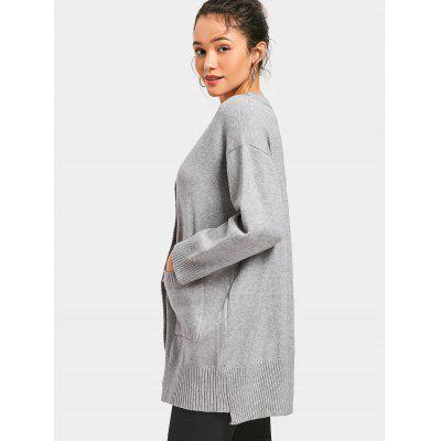 Button Up Pockets Plunge CardiganSweaters &amp; Cardigans<br>Button Up Pockets Plunge Cardigan<br><br>Collar: Plunging Neck<br>Material: Polyester<br>Package Contents: 1 x Cardigan<br>Sleeve Length: Full<br>Style: Casual<br>Type: Cardigans<br>Weight: 0.6300kg