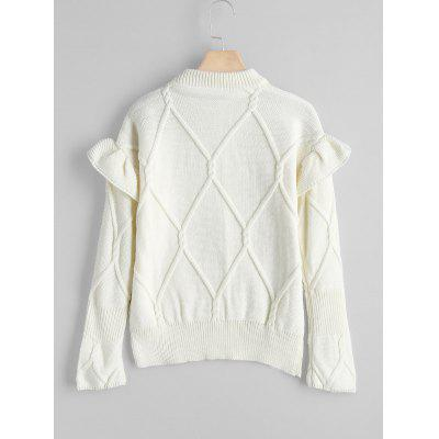 Ruffles Mock Neck SweaterSweaters &amp; Cardigans<br>Ruffles Mock Neck Sweater<br><br>Collar: Mock Neck<br>Material: Acrylic<br>Package Contents: 1 x Sweater<br>Sleeve Length: Full<br>Style: Fashion<br>Type: Pullovers<br>Weight: 0.5300kg