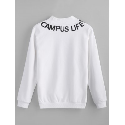 Graphic Mock Neck SweatshirtSweatshirts &amp; Hoodies<br>Graphic Mock Neck Sweatshirt<br><br>Clothing Style: Sweatshirt<br>Material: Cotton, Spandex<br>Package Contents: 1 x Sweatshirt<br>Pattern Style: Letter<br>Shirt Length: Regular<br>Sleeve Length: Full<br>Weight: 0.4000kg