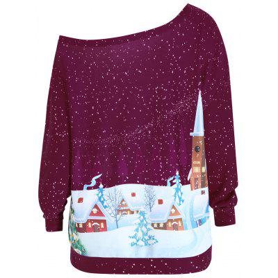 Plus Size Christmas Evening Printed Skew Neck SweatshirtPlus Size Tops<br>Plus Size Christmas Evening Printed Skew Neck Sweatshirt<br><br>Material: Cotton Blend, Polyester<br>Package Contents: 1 x Sweatshirt<br>Pattern Style: Print<br>Season: Fall, Winter<br>Shirt Length: Regular<br>Sleeve Length: Full<br>Style: Fashion<br>Weight: 0.4100kg