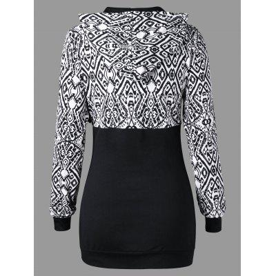 Monochrome Tribal Print Tunic HoodieSweatshirts &amp; Hoodies<br>Monochrome Tribal Print Tunic Hoodie<br><br>Material: Polyester, Spandex<br>Package Contents: 1 x Hoodie<br>Pattern Style: Others<br>Season: Fall, Spring<br>Shirt Length: Long<br>Sleeve Length: Full<br>Style: Casual<br>Weight: 0.4000kg