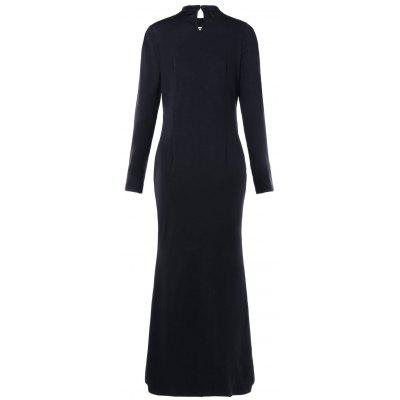 Lattice Cut Out Zip Up Maxi DressWomens Dresses<br>Lattice Cut Out Zip Up Maxi Dress<br><br>Dresses Length: Floor-Length<br>Material: Polyester, Spandex<br>Neckline: High Neck<br>Package Contents: 1 x Dress<br>Pattern Type: Solid<br>Season: Spring, Fall<br>Silhouette: Straight<br>Sleeve Length: Long Sleeves<br>Style: Brief<br>Weight: 0.4660kg<br>With Belt: No