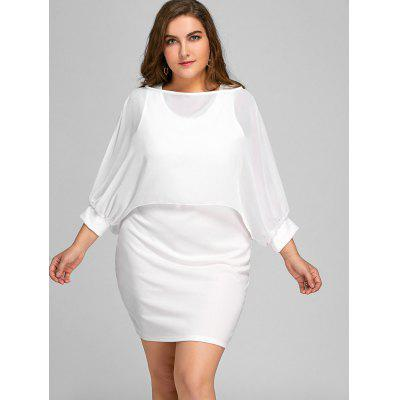 Plus Size Tank Dress and Chiffon CapePlus Size Dresses<br>Plus Size Tank Dress and Chiffon Cape<br><br>Dresses Length: Mini<br>Material: Cotton, Polyester<br>Neckline: Scoop Neck<br>Package Contents: 1 x Dress  1 x Cape<br>Pattern Type: Solid<br>Season: Fall, Spring, Summer<br>Silhouette: Bodycon<br>Sleeve Length: Sleeveless<br>Style: Casual<br>Weight: 0.4550kg<br>With Belt: No