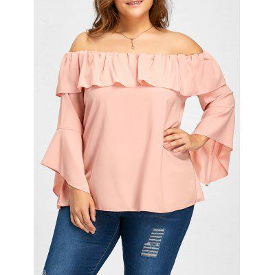 Flounce Off The Shoulder Bell Sleeve Blouse