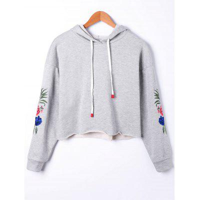 Short Embroidery Hoodie