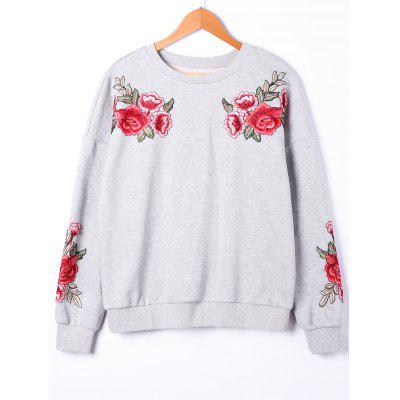 Embroidery Floral Sweatshirt