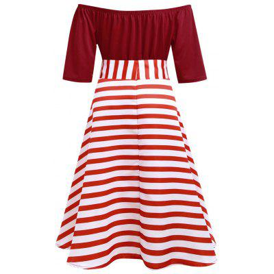 Plus Size Stripe Christmas Party Knee Length DressPlus Size Dresses<br>Plus Size Stripe Christmas Party Knee Length Dress<br><br>Dresses Length: Knee-Length<br>Material: Cotton Blend, Polyester<br>Neckline: Boat Neck<br>Package Contents: 1 x Dress 1 x Belt<br>Pattern Type: Striped<br>Season: Winter, Fall<br>Silhouette: Ball Gown<br>Sleeve Length: Short Sleeves<br>Style: Cute<br>Weight: 0.3700kg<br>With Belt: Yes