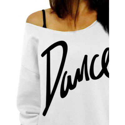 Skew Collar Dance Print SweatshirtSweatshirts &amp; Hoodies<br>Skew Collar Dance Print Sweatshirt<br><br>Material: Polyester<br>Package Contents: 1 x Sweatshirt<br>Pattern Style: Letter<br>Season: Fall<br>Shirt Length: Regular<br>Sleeve Length: Full<br>Style: Fashion<br>Weight: 0.3000kg