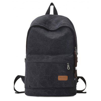 Buy BLACK Solid Color Stitching School Backpack for $31.11 in GearBest store