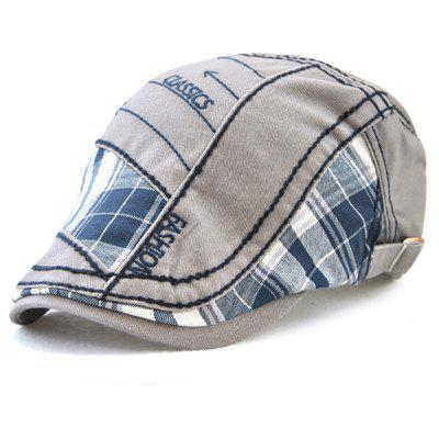 Outdoor Patchwork Pattern Embroidery Cabbie Hat