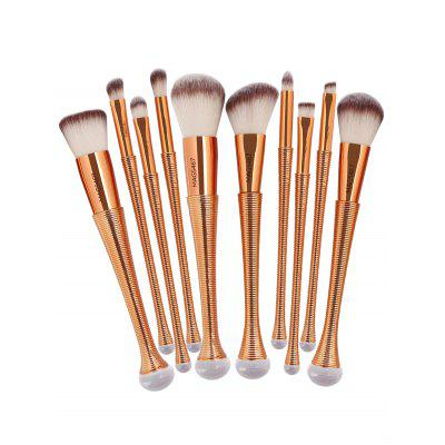 10 Pieces Gradient Color Makeup Brushes SetMakeup Brushes &amp; Tools<br>10 Pieces Gradient Color Makeup Brushes Set<br><br>Brush Hair Material: Synthetic Hair<br>Category: Makeup Brushes Set<br>Features: Eco-friendly<br>Package Contents: 1 x 10 Brushes (Pcs)<br>Season: Fall, Spring, Summer<br>Weight: 0.2000kg