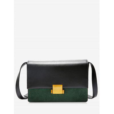 Metal Detallado Color Contrastante Crossbody Bolsa