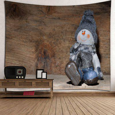 Snowman Wall Decor Wood Grain TapestryCushion<br>Snowman Wall Decor Wood Grain Tapestry<br><br>Feature: Removable, Washable<br>Material: Cotton, Polyester<br>Package Contents: 1 x Tapestry<br>Shape/Pattern: Snowman,Wood<br>Style: Vintage<br>Weight: 0.2900kg