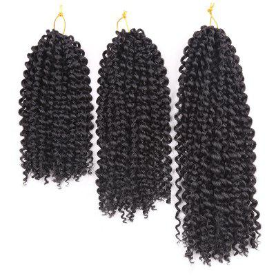 Buy BLACK 3Pcs Short Afro Kinky Curly Twist Braids Mali Bob Synthetic Hair Weaves for $11.73 in GearBest store