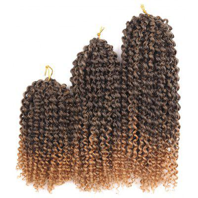 Buy LIGHT BROWN 3Pcs Short Afro Kinky Curly Twist Braids Mali Bob Synthetic Hair Weaves for $11.73 in GearBest store