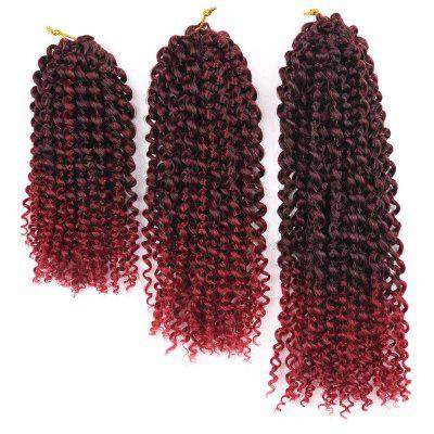 3Pcs Short Afro Kinky Curly Twist Braids Mali Bob Synthetic Hair Weaves