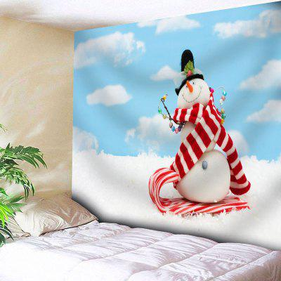 Buy CLOUDY Bedroom Decor Snowman Print Wall Tapestry for $18.42 in GearBest store