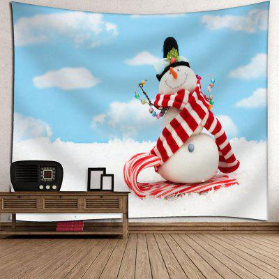Bedroom Decor Snowman Print Wall TapestryTapestries<br>Bedroom Decor Snowman Print Wall Tapestry<br><br>Feature: Removable, Washable<br>Material: Cotton, Polyester<br>Package Contents: 1 x Tapestry<br>Shape/Pattern: Snowman<br>Style: Cute<br>Weight: 0.3450kg