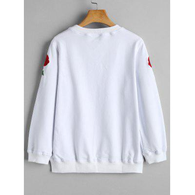 Crew Neck Rose Embroidered SweatshirtSweatshirts &amp; Hoodies<br>Crew Neck Rose Embroidered Sweatshirt<br><br>Clothing Style: Sweatshirt<br>Material: Cotton, Polyester<br>Package Contents: 1 x Sweatshirt<br>Pattern Style: Floral<br>Shirt Length: Regular<br>Sleeve Length: Full<br>Weight: 0.4200kg