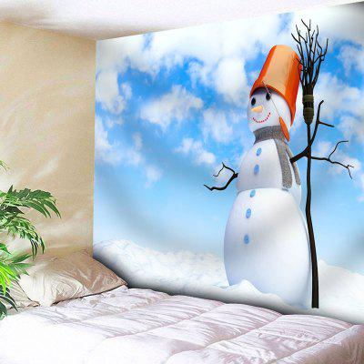 Buy CLOUDY Snowman Sky Print Wall Decor Tapestry for $20.22 in GearBest store
