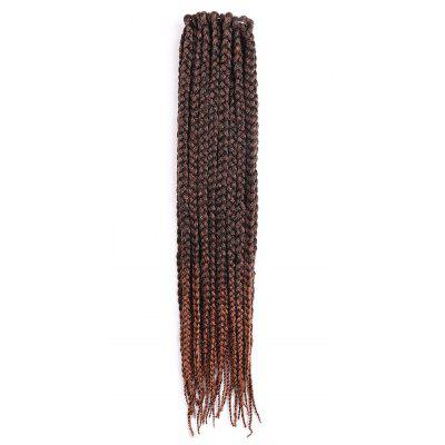 Buy BROWN Long Three Strand Box Braids Synthetic Hair Weave for $10.03 in GearBest store