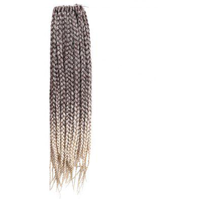 Long Three Strand Box Braids Synthetic Hair Weave