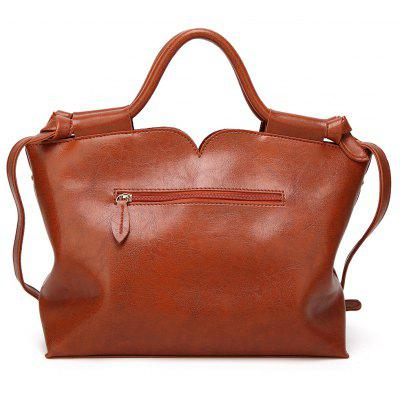 Faux Leather Handbag With StrapHandbags<br>Faux Leather Handbag With Strap<br><br>Closure Type: Zipper<br>Gender: For Women<br>Handbag Size: Medium(30-50cm)<br>Handbag Type: Totes<br>Interior: Interior Zipper Pocket, Cell Phone Pocket<br>Main Material: PU<br>Occasion: Versatile<br>Package Contents: 1 x Handbag<br>Pattern Type: Solid<br>Size(CM)(L*W*H): 31*12*26<br>Style: Fashion<br>Weight: 1.2000kg