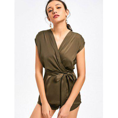 Belted Layered Snap Buttoned Romper
