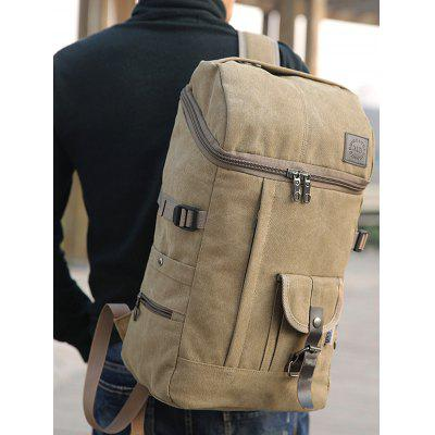 Buckle Straps Zip BackpackBackpacks<br>Buckle Straps Zip Backpack<br><br>Backpack Usage: Daily Backpack<br>Backpacks Type: Softback<br>Closure Type: Zipper<br>Gender: Unisex<br>Height: 46CM<br>Length: 26CM<br>Main Material: Canvas<br>Package Contents: 1 x Backpack<br>Pattern Type: Solid<br>Weight: 1.2000kg<br>Width: 18CM