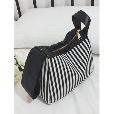 Striped Splicing Tote BagStriped Splicing Tote Bag<br><br>Closure Type: Zipper<br>Gender: For Women<br>Handbag Size: Small(20-30cm)<br>Handbag Type: Totes<br>Main Material: Canvas<br>Occasion: Versatile<br>Package Contents: 1 x Tote Bag<br>Pattern Type: Striped<br>Size(CM)(L*W*H): 26*9*21<br>Style: Fashion<br>Weight: 0.6000kg