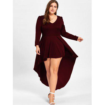 Plus Size V Neck Cocktail DressPlus Size Dresses<br>Plus Size V Neck Cocktail Dress<br><br>Dresses Length: Ankle-Length<br>Material: Polyester, Spandex<br>Neckline: V-Neck<br>Package Contents: 1 x Dress<br>Pattern Type: Solid Color<br>Season: Spring, Fall<br>Silhouette: A-Line<br>Sleeve Length: Long Sleeves<br>Style: Club<br>Weight: 0.4500kg<br>With Belt: No