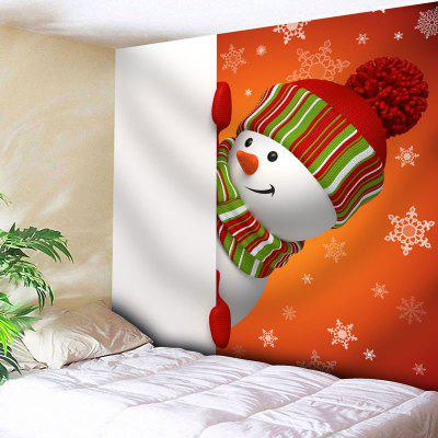 Wall Hanging Snowman Print Tapestry