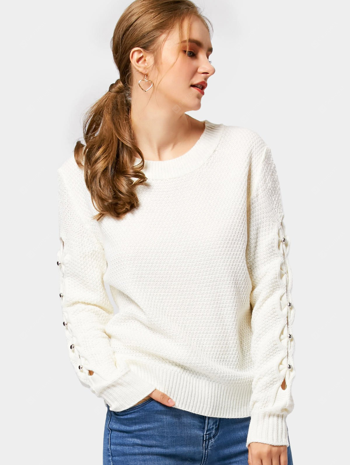 Bow Cutout Knitted Sweater
